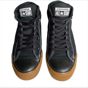 Mens Gum Bottom Black Converse 9.5